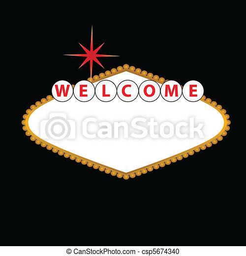 Blank Las Vegas Sign - csp5674340