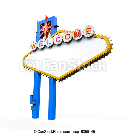 blank las vegas welcome sign isolated on white background rh canstockphoto com las vegas clipart las vegas clip art free