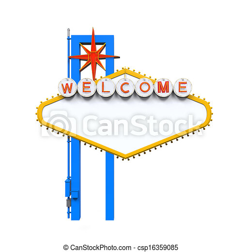 Blank Las Vegas Welcome Sign - csp16359085