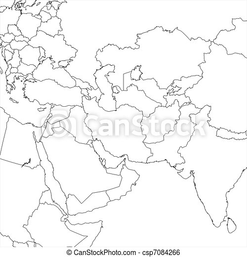 Blank Middle East Map   Csp7084266