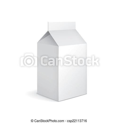 blank milk carton package - csp22113716