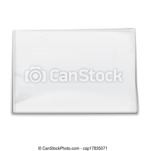 Blank Newspaper Template On White Background Vector Vectors