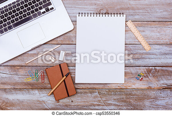 Brilliant Blank Note Pad Paper With Copy Space Office Desk Flat Lay Download Free Architecture Designs Terchretrmadebymaigaardcom