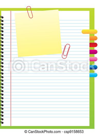 blank notebook - csp9158653
