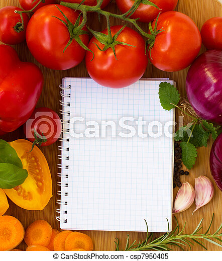 blank notebook for recipes - csp7950405