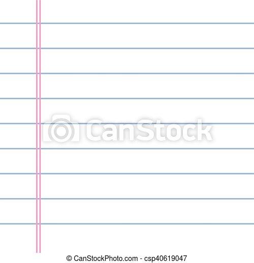 Blank Notebook Paper - csp40619047