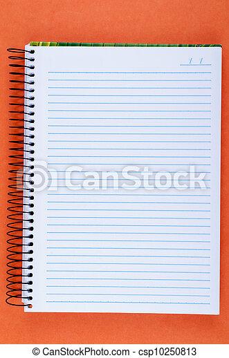 blank notebook - csp10250813