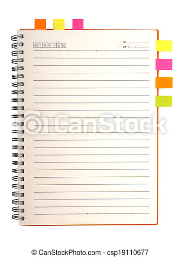 Blank notebook - csp19110677