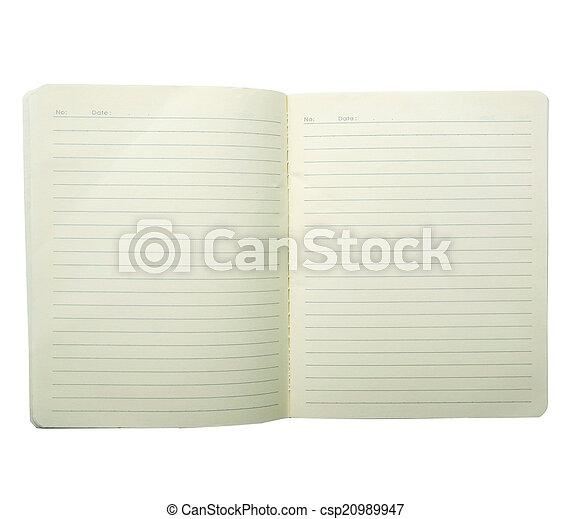 Blank Notebook - csp20989947