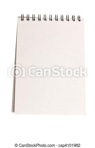 blank notebook - csp4101982