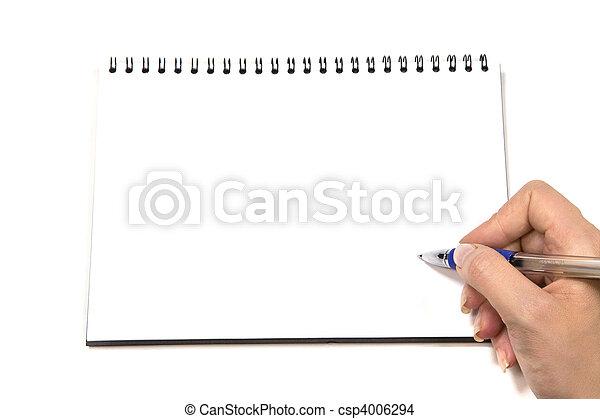 Blank Notepad - csp4006294