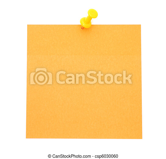Blank orange post-it note - csp6030060