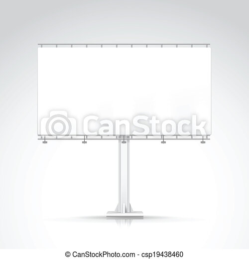 Blank Outdoor Billboard with Place for Message - csp19438460