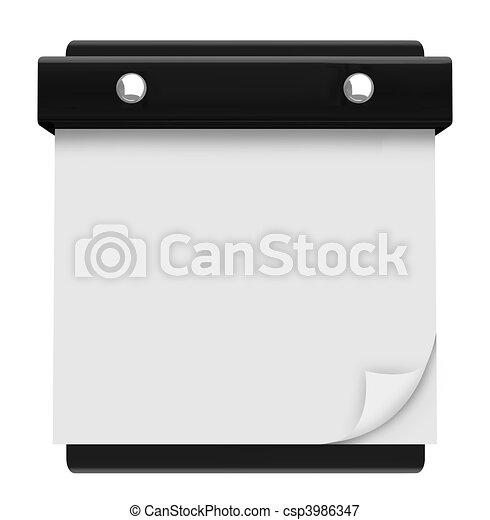 Blank Page - Hanging Wall Calendar - csp3986347