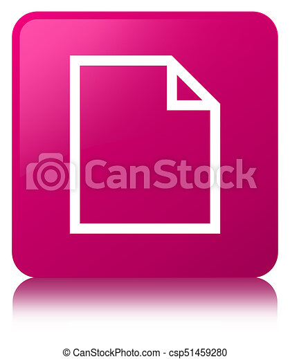 Blank page icon pink square button - csp51459280