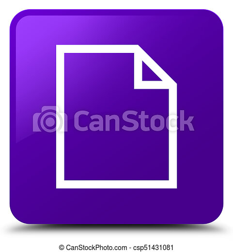 Blank page icon purple square button - csp51431081