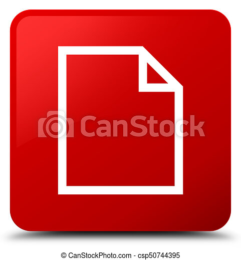 Blank page icon red square button - csp50744395