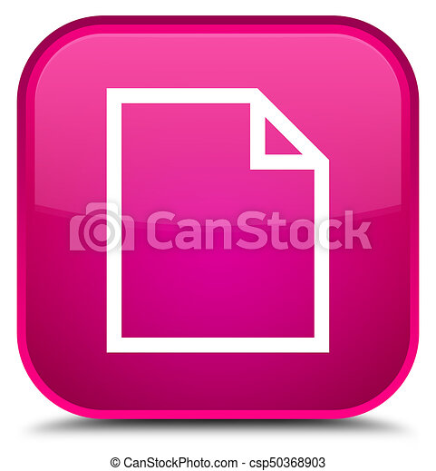 Blank page icon special pink square button - csp50368903