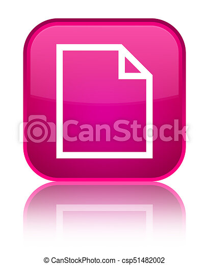 Blank page icon special pink square button - csp51482002