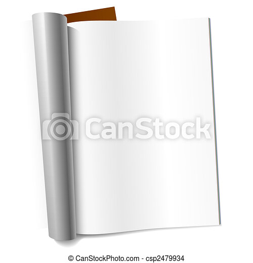 Blank page of magazine - csp2479934