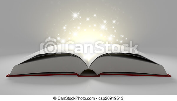 Blank Paged Magical Book - csp20919513