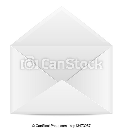 Blank paper envelope for letters on a white background - csp13473257