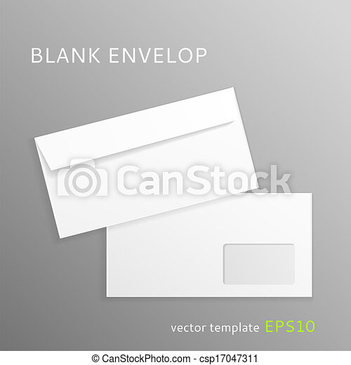 Blank paper envelope - csp17047311