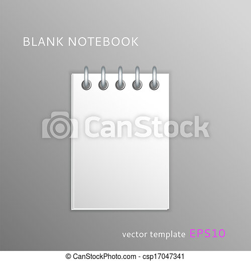Blank paper notebook - csp17047341