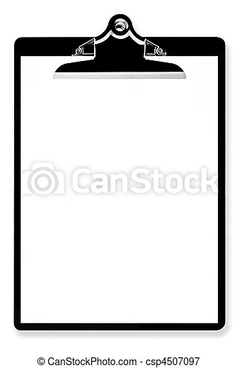 Blank Paper on Clipboard - csp4507097