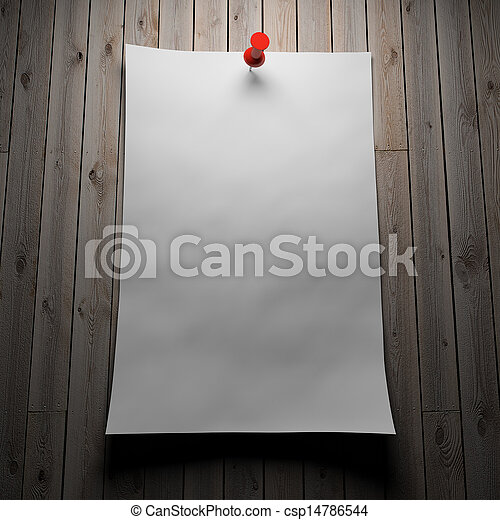 Blank paper on wood - csp14786544