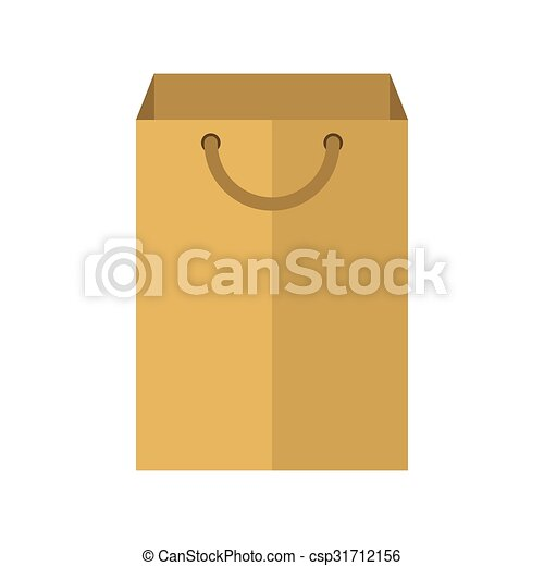 Blank paper package flat icon - csp31712156