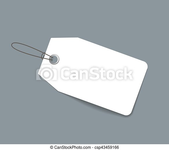Blank paper price tag or label isolated - csp43459166