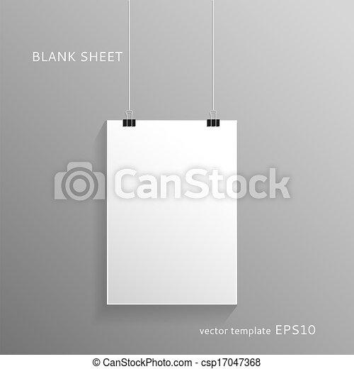 Blank paper sheet - csp17047368
