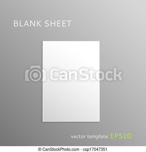 Blank paper sheet - csp17047351