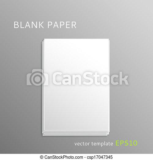 Blank paper sheet - csp17047345