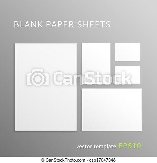 Blank paper sheet - csp17047348