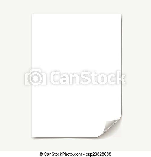 blank paper sheet - csp23828688