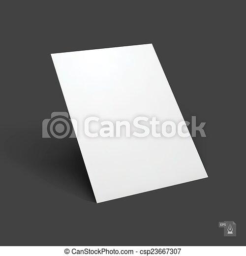 Blank paper sheet mockup - csp23667307