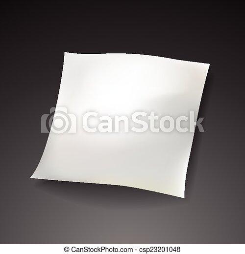 blank paper sheet template  - csp23201048