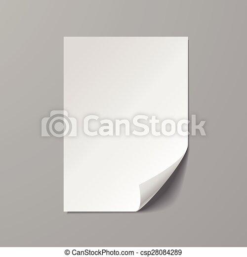 blank paper sheet template - csp28084289