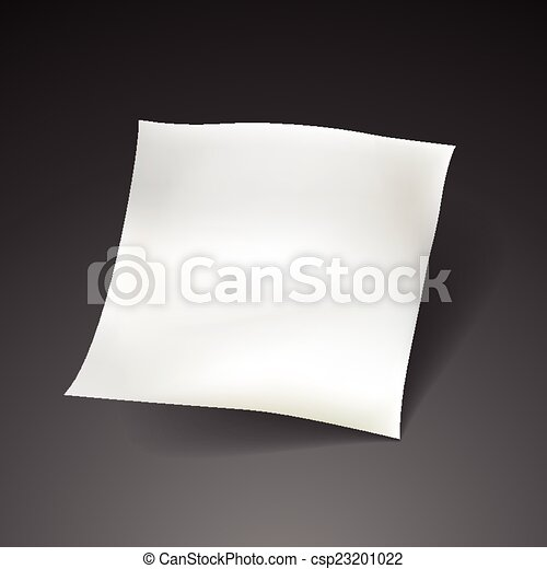 blank paper sheet template  - csp23201022