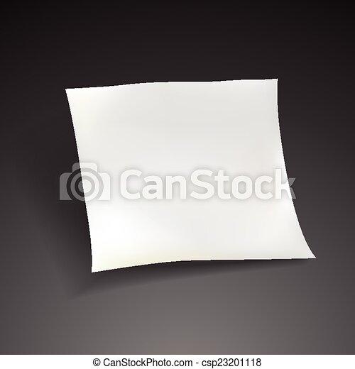 blank paper sheet template  - csp23201118