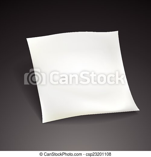 blank paper sheet template  - csp23201108