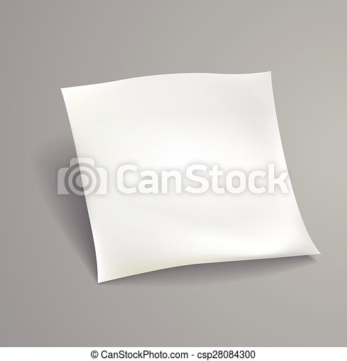 blank paper sheet template - csp28084300