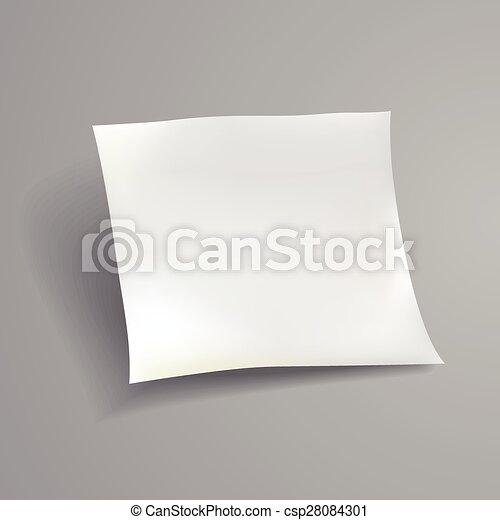 blank paper sheet template - csp28084301