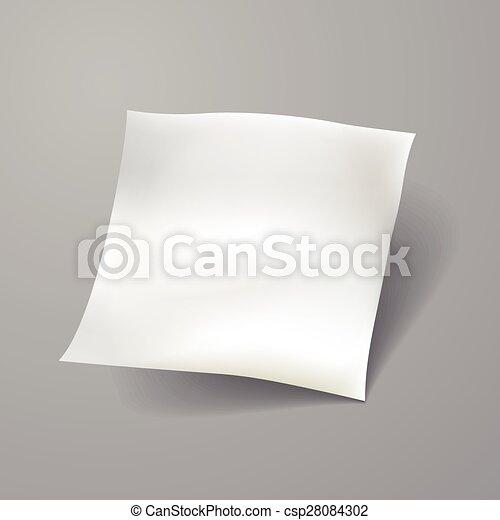 blank paper sheet template - csp28084302