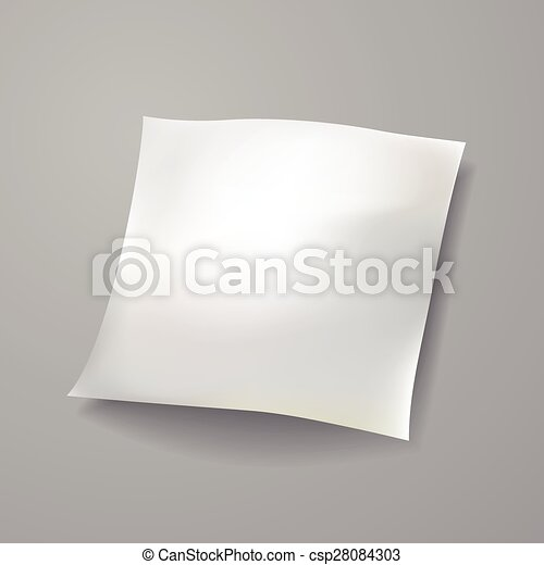 blank paper sheet template - csp28084303