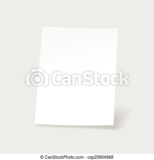 Blank  paper sheet vector - csp25804968