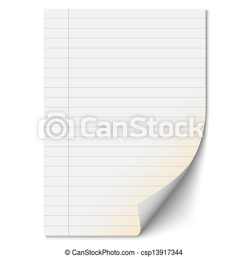 Blank paper sheet with lines - csp13917344