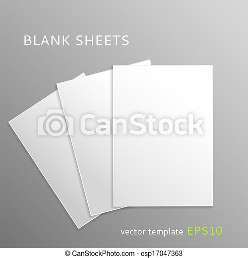 Blank paper sheets - csp17047363